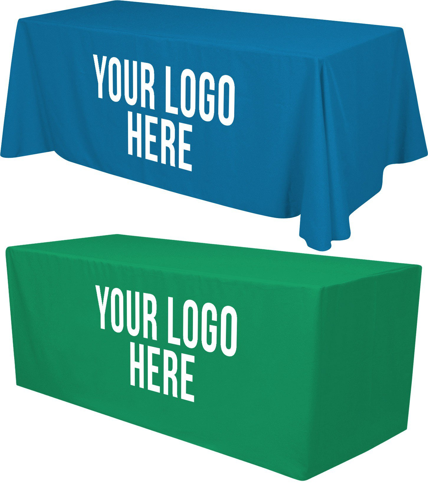 8ft Tablecloth with 1 Color Logo