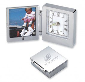 Silver Foldable Clock