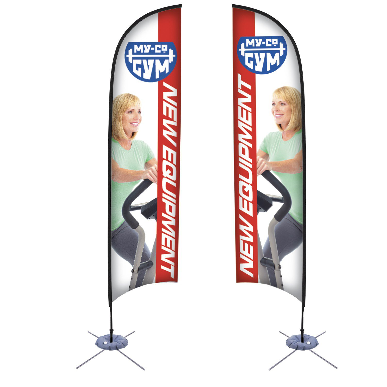 13' Razor Sail Sign Banner Kit (Double-Sided)