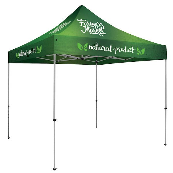Deluxe 10' Square Tent Full-Color, Full Bleed Dye-Sublimation