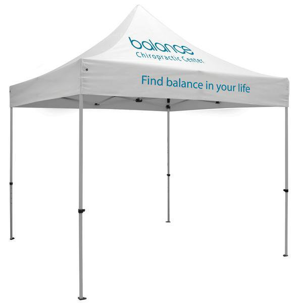 10ft x 10ft Aluminum Canopy (Imprint 2 Locations in Full-Color)