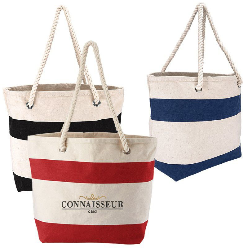 Cotton Resort Tote w/ Rope Handle