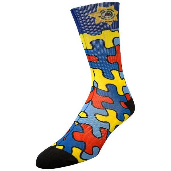Athletic Crew Length Socks with Full Sublimation