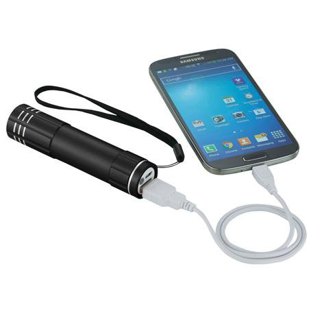 2200 mAh Flare Power Bank + Flashlight