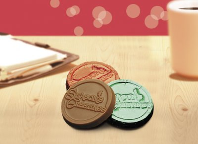 Seasons Greetings Chocolate Coins