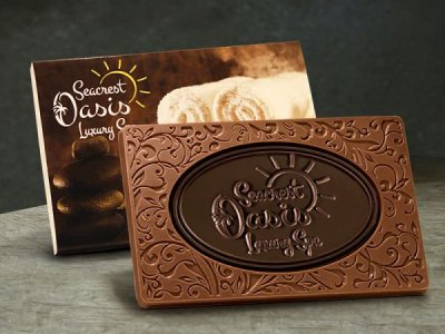Engraved Milk & Dark Chocolate Combo Bar 3oz