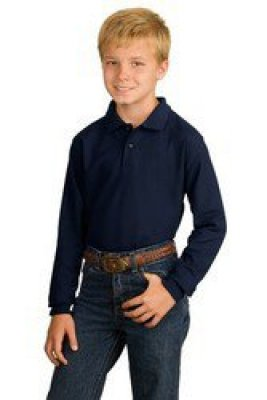 Youth Silk Touch Long Sleeve Sport Shirt