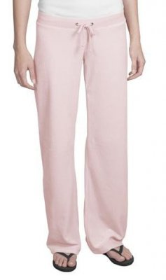 Ladies Velour Fitted Flare Pants