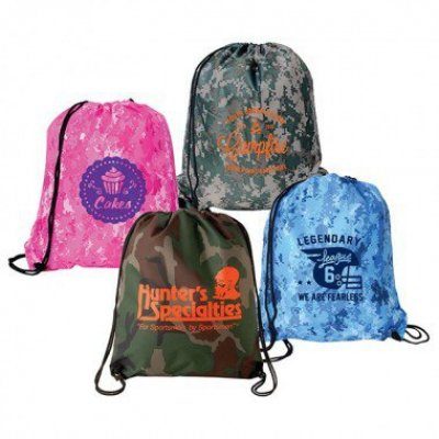 Camo Drawstring Backsack