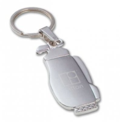 Silver Golf Bag Keychain