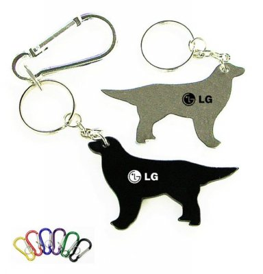 Dog Shape Bottle Opener Key Chain with carabineer