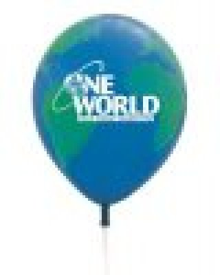 "11"" QUALATEX R GLOBE BALLOONS"