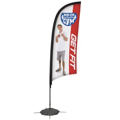 9' Razor Sail Sign Banner Kit (Single-Sided)