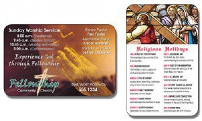 Religious Laminated Wallet Card
