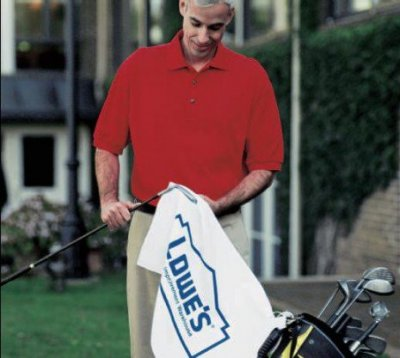 "White Turkish Signature 2.5lb 16"" x 24"" Golf Towel"