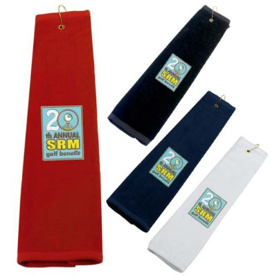 "16"" x 25"" Tri-Fold Golf Towel"