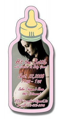 Announcement Magnet  Baby Bottle Shape