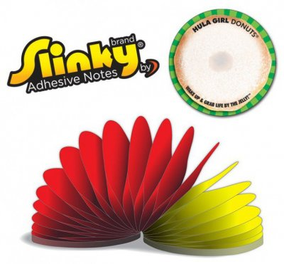 Slinky Adhesive Notes - Round - 100 Sheets