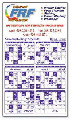 Calendar Sports Schedule Magnet