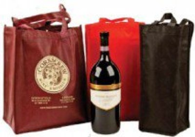 "11"" x 14"" x 8""  - 6 Wine Bottle Grocery Bag"