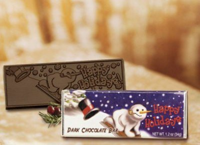 Happy Holidays Belgian Chocolate Bar