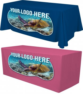 8ft Tablecloth with Full Color Logo