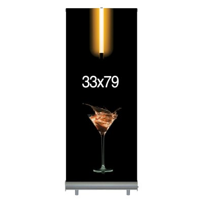 "Economy Retractable Banner & Stand Set - 33""W x 79""H"