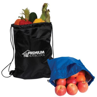 Insulated Nylon Drawstring Backpack Cooler