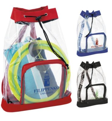 Drawstring Clear Backpack