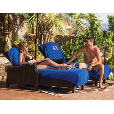 Heavyweight Terry Chaise Lounge Chair Cover