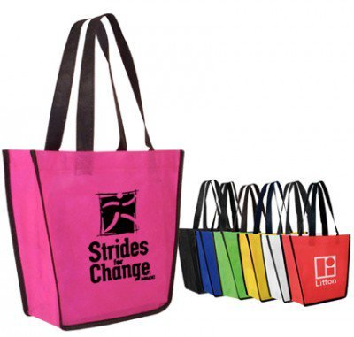 "12"" x 8"" x 10"" Tapered Non-Woven Tote Bag"