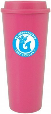 20oz Pink Cup2Go w/ Threaded Lid