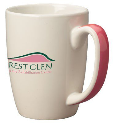 11oz Pink Handle Accentua Mugs