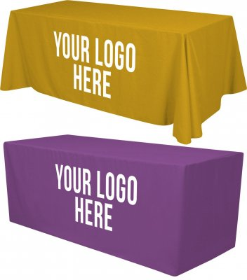 6ft Tablecloth with 1 Color Logo