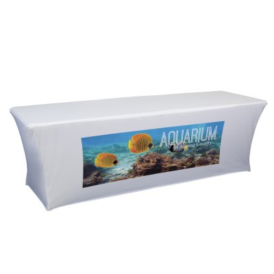 8ft UltraFit Table Cover Full Color Front Only Imprint