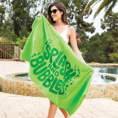 "Color 30"" x 60"" 8lb Beach Towel"