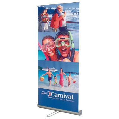 "33""W x 82""H Adjustable / Retractable Banner & Stand Set"