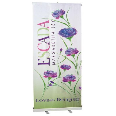 "One Single Sided 33"" x 79"" Banner w/Retractable Stand"