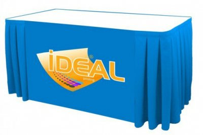 6ft 3-Sided Box Pleat Table Skirt