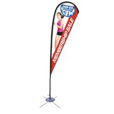 11.5' Teardrop Sail Sign Banner Kit (Single-Sided)