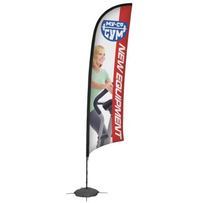 13' Razor Sail Sign Banner Kit (Single-Sided)