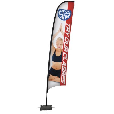 17' Razor Sail Sign Banner Kit (Single-Sided)