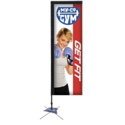 7' Rectangle Sail Sign Banner Kit (Single-Sided)