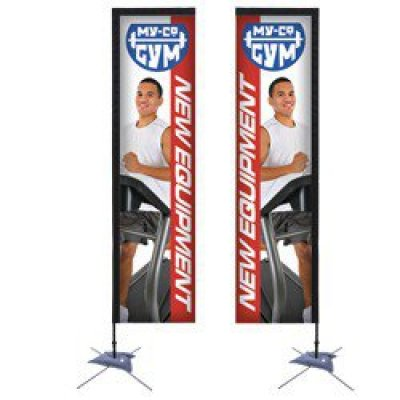 10' Rectangle Sail Sign Banner (Double-Sided)