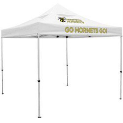 Deluxe 10' Square Tent with Vented Canopy (Full-Color Thermal Imprint, 2 Locations)