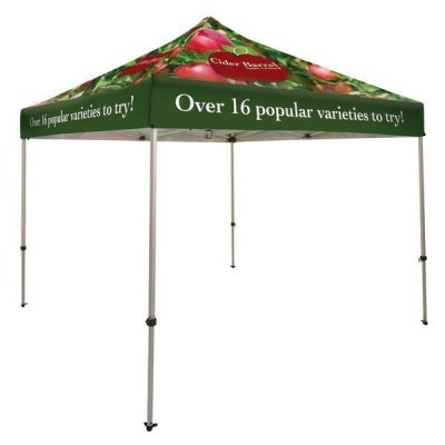 10ft x 10ft Aluminum Canopy (Imprint Entire Canopy in Full-Color)
