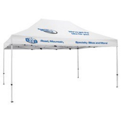 Deluxe 10' x 15' Tent (Full-Color Thermal Imprint, 4 Locations)