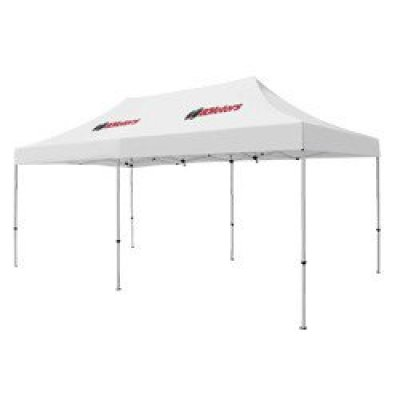 Deluxe 10' x 20' Tent (Full-Color Thermal Imprint, 2 Locations)
