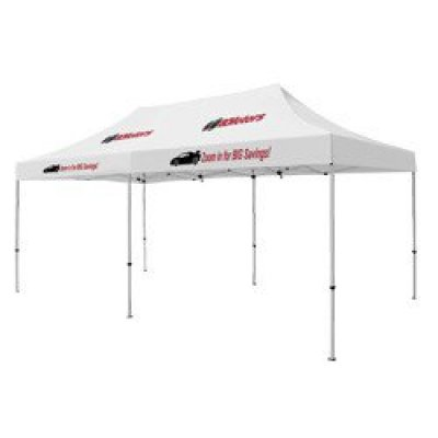Deluxe 10' x 20' Tent (Full-Color Thermal Imprint, 4 Locations)