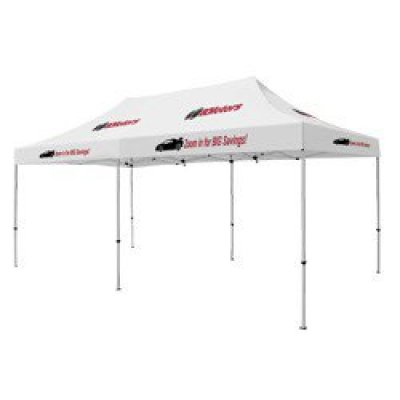 Deluxe 10' x 20' Tent (Full-Color Thermal Imprint, 8 Locations)